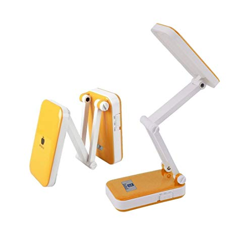 LED Desk Lamp Rechargeable Duhud Table Lamp Portable Eye Protection Lights with Usb Charging Port for Reading,Studying,Working,Bedroom,Office(Orange)