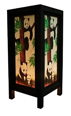 Thai Vintage Handcraft PANDA TABLE LAMP Modern Design